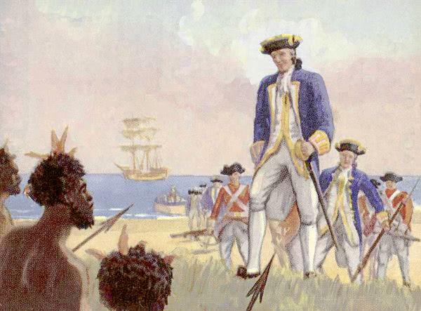 Captain Cook Lands In Australia Famous Explorer Cook