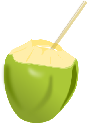 how to open a coconut to drink with straw