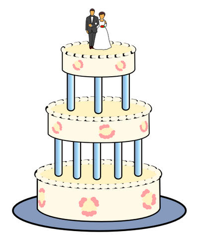 See Google docs and WPClipart for a brief howto wedding cake wedding cake