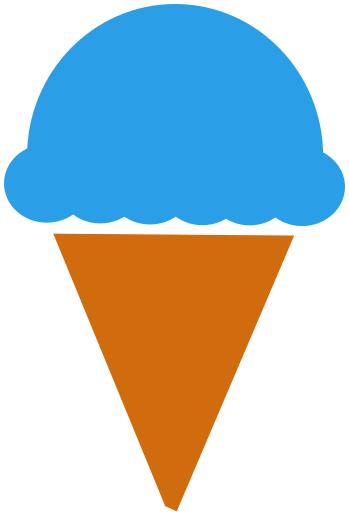 ice cream cone blue moon   food  desserts snacks  ice cream clip art moon phases clip art moon black white
