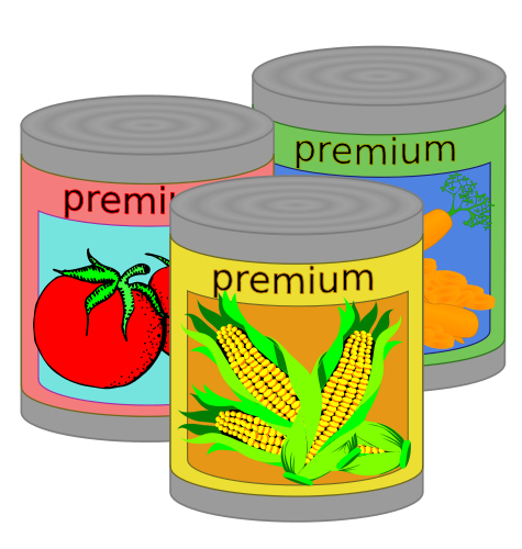 Canned Food Clipart Transparent