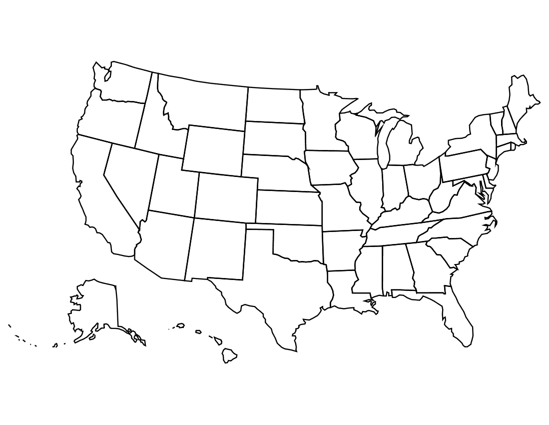 clipart of united states map - photo #17