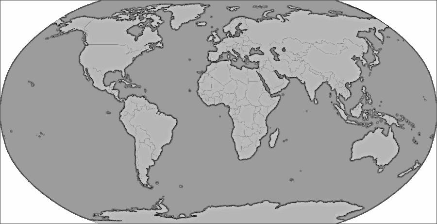 Free World Map Clip Art. blue green world map
