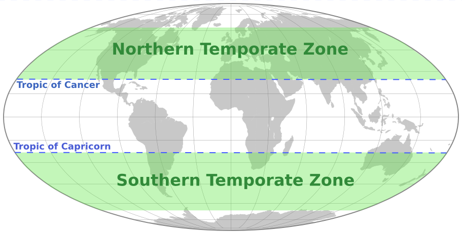 Temperate Zones Geography World Maps Specialty