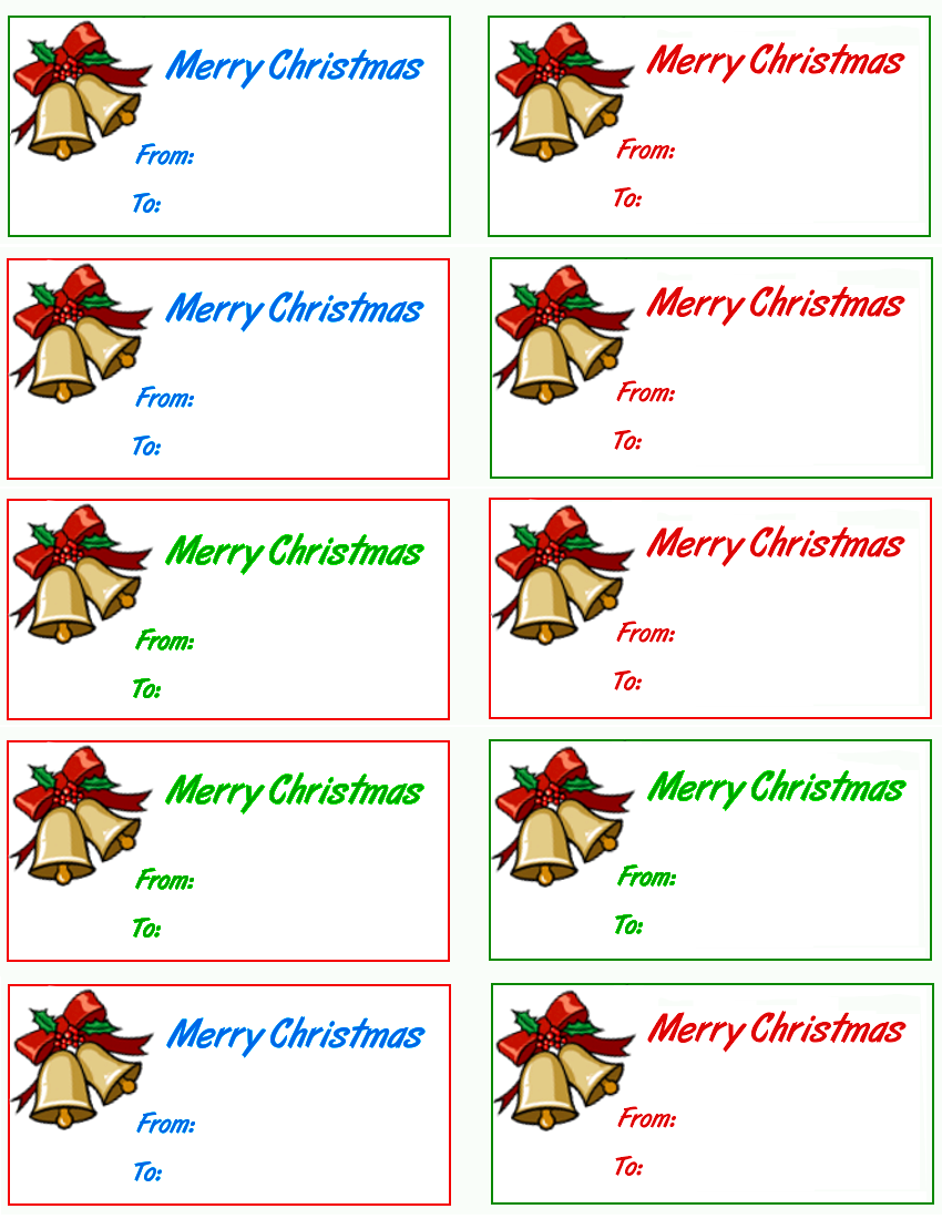 Christmas Gift Label Templates | New Calendar Template Site