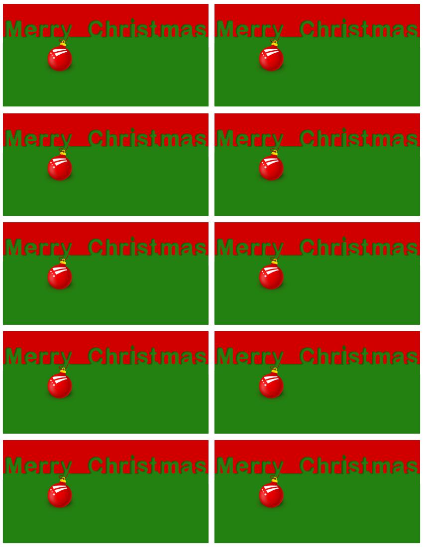 Merry Christmas Red Green Gift Tags Holiday Christmas