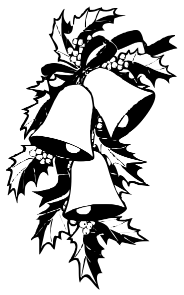 clip art holly leaves black and white - photo #28
