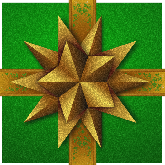 gift box green gold - /holiday/Christmas/gifts/gift_from ...