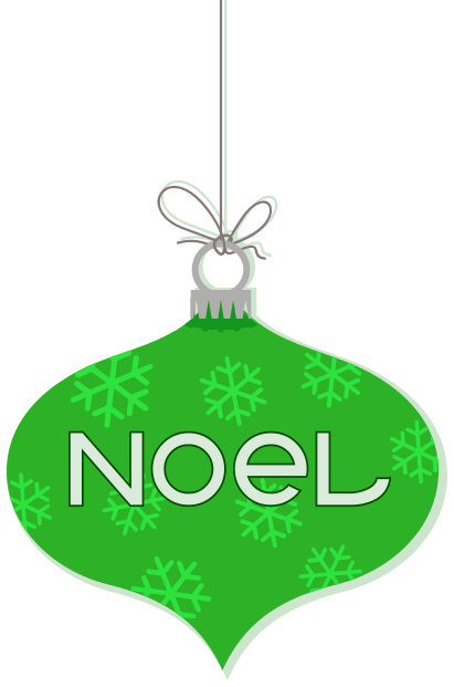 Noel ornament hanging green holiday christmas ornaments noel ornament hanging - Hanging christmas ornaments ...