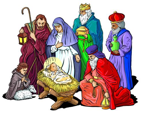 Nativity 1 Holiday Christmas Religious Nativity