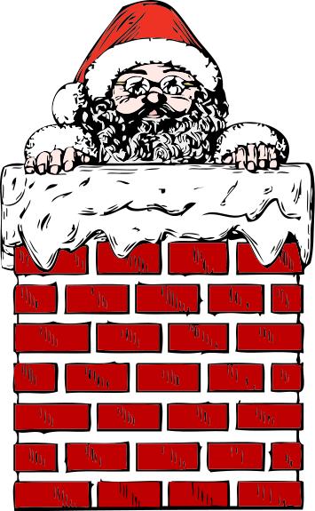 Santa in a chimney - /holiday/Christmas/santa/Santa_forever/Santa_in_a ...