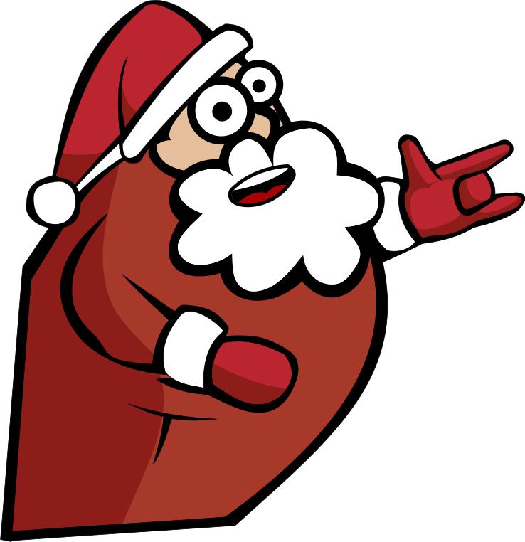 santa heavy metal   holiday  christmas  santa  santa images clipart santa claus clip art santa faces