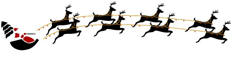 santa and reindeer flying - /holiday/Christmas/santa/santa ...