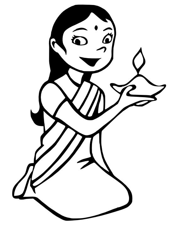 Diwali girl - /holiday/Diwali/Diwali_girl.png.html