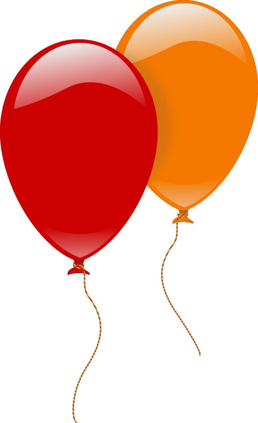 2 large shiney balloons - http://
