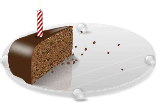 Last Slice Of Birthday Cake Holiday Birthday Cake Last