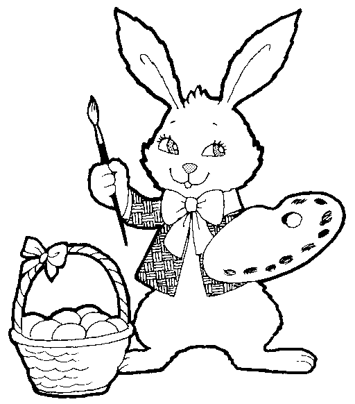 easter bunnies to color. Who Invented the Easter Bunny