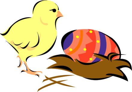 clip art easter chick. easter chick w egg