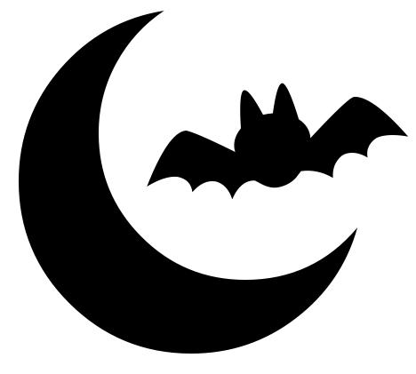 bat over moon - /holiday/halloween/bat/more_bats/bat_over_moon.png ...