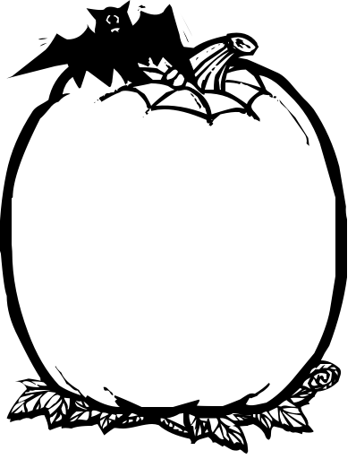 blank halloween coloring pages - photo#23