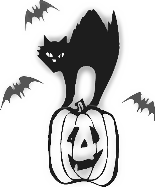 scary cat clipart free - photo #44