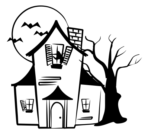 The Haunted House Is Spooky Coloring Page together with  in addition Stoner Coloring Pages further Halloween Haunted House Clipart in addition Scary Pumpkin Coloring Page. on scary castle coloring page