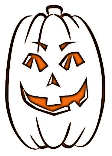 Embed Tall Pumpkin Outline Clip Art