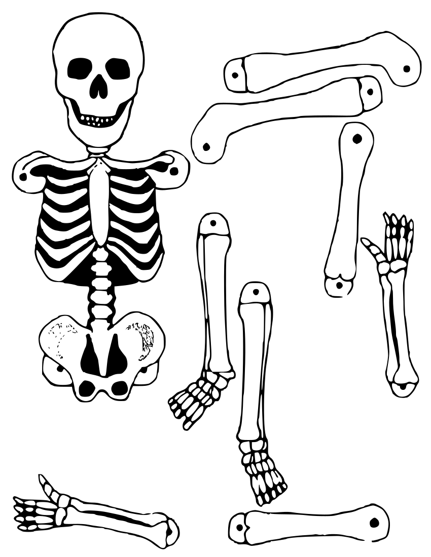 Slobbery image within skeleton cut out printable
