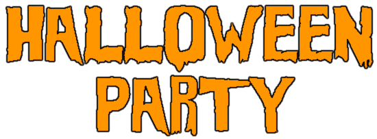 Halloween Party Sign - /holiday/halloween/spooky_words ...