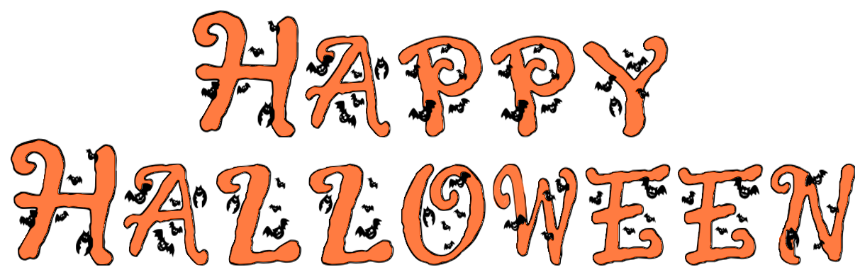 happy halloween w bats   holiday  halloween  spooky words halloween bats clip art free halloween bats clip art black and white