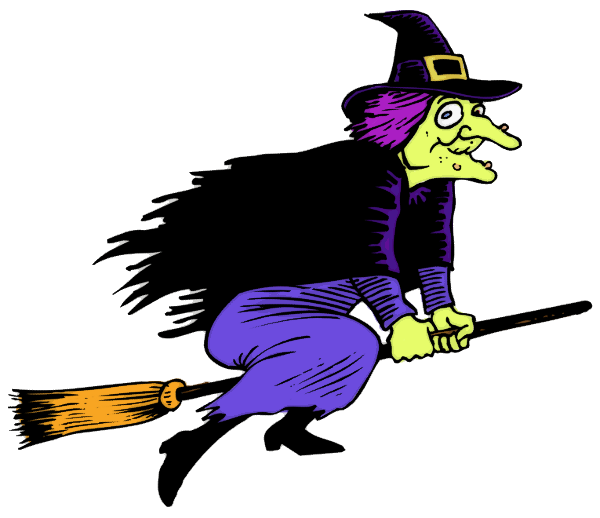 witch with warts flying - http://www.wpclipart.com/holiday ...