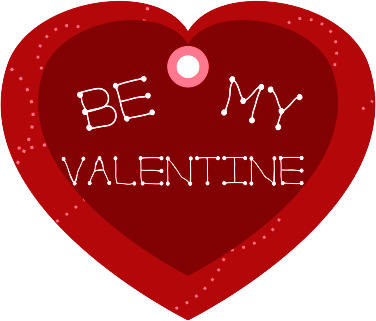 Valentines Gifts on Be My Valentine Heart Shaped Gift Tag   Public Domain Clip Art Image