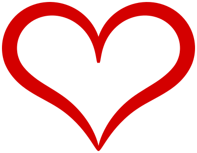... hearts other hearts heart red curvy outline a public domain png image