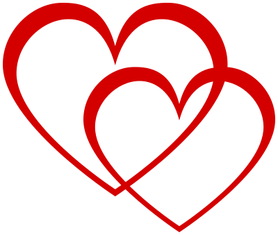 heart double outline red holidayvalentinesvalentine