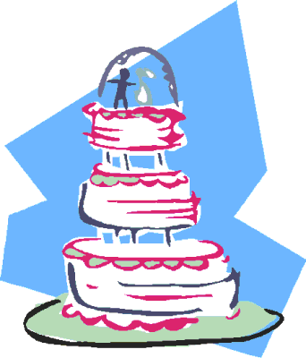wedding cake w pink and blue