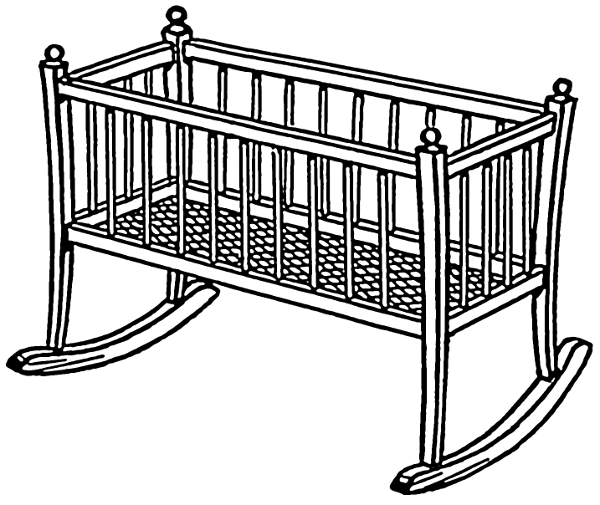 clipart baby cradle - photo #4
