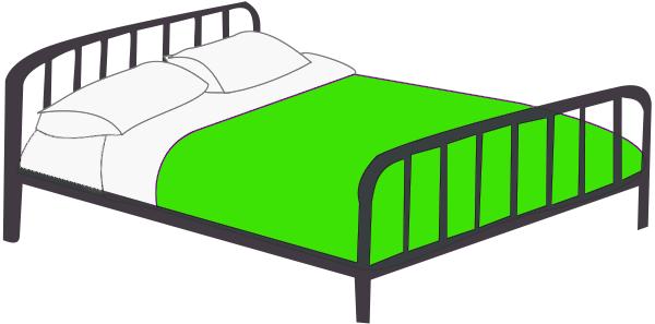 Green Bedroom Art