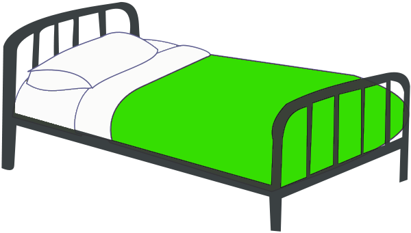 Single bed green household bedroom bed_colors single_bed_green png html