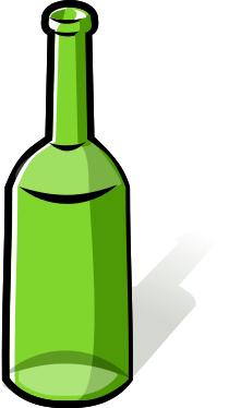 bottle empty green - /household/kitchen/bottle/bottle_2 ...