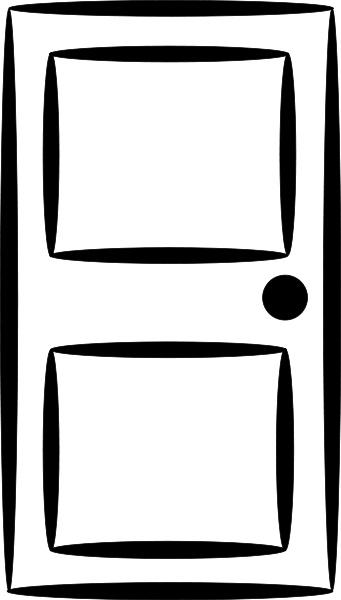 Line Drawing Door : Door line art household outdoor