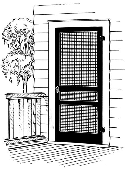 Screen Door Clip Art : Screen door household outdoor