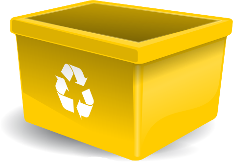 recycle bin yellow - /household/recycle/recycle_bins ...
