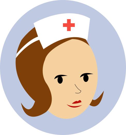 clip art nurse. NURSE - public domain clip art
