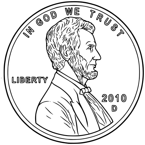 penny nickle coloring pages - photo#22
