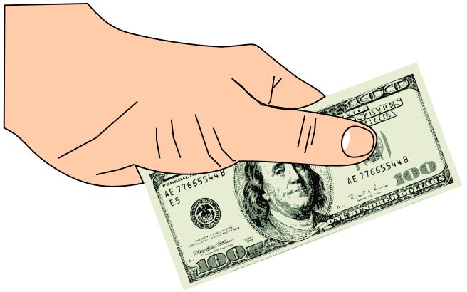 Hand 100 Dollar Bill Money Bills Bills 2 Hand 100