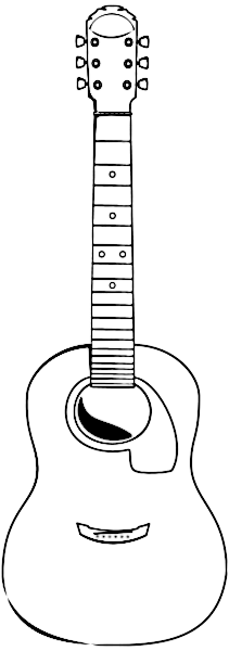 acoustic guitar... Music Instruments Clipart Black And White
