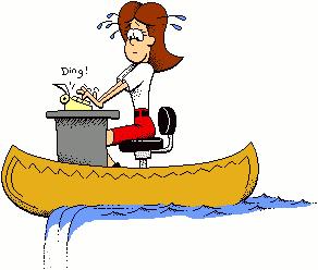 Woman In Canoe Office People Canoepng