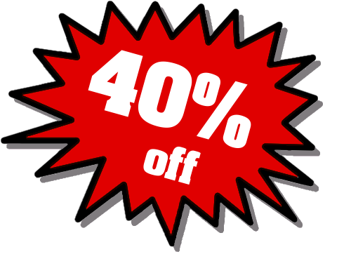 40 Off Rt Red Office Sale Promo Burst Red 40 Off Rt Red