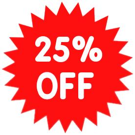 25 percent off coupon