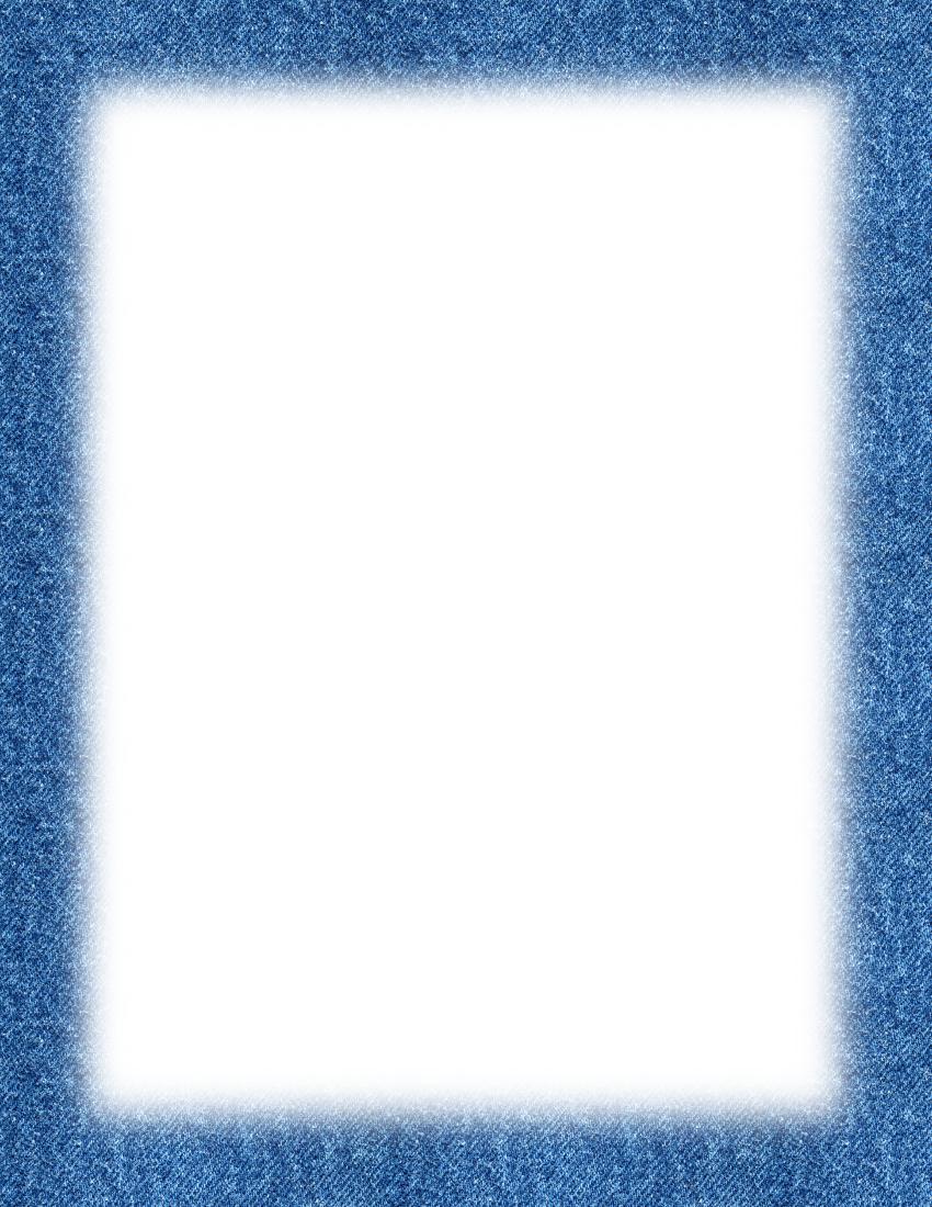 Denim Border Page Frames Fade To Edge Denim Border Png Html